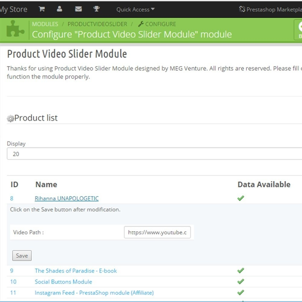 module - Videos & Musik - Product Video Slider / Video Gallery - 5