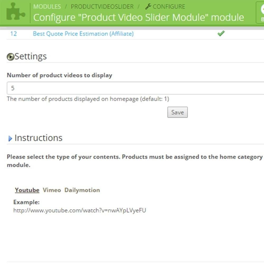module - Videos & Musik - Product Video Slider / Video Gallery - 6