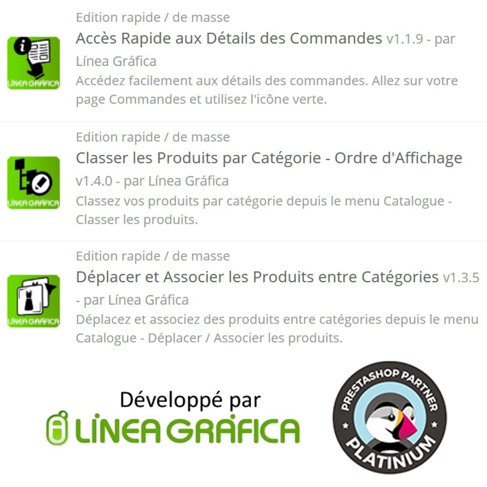 pack - Edition rapide & Edition de masse - Gain de Temps - Edition Rapide / de Masse - 3 Modules - 14
