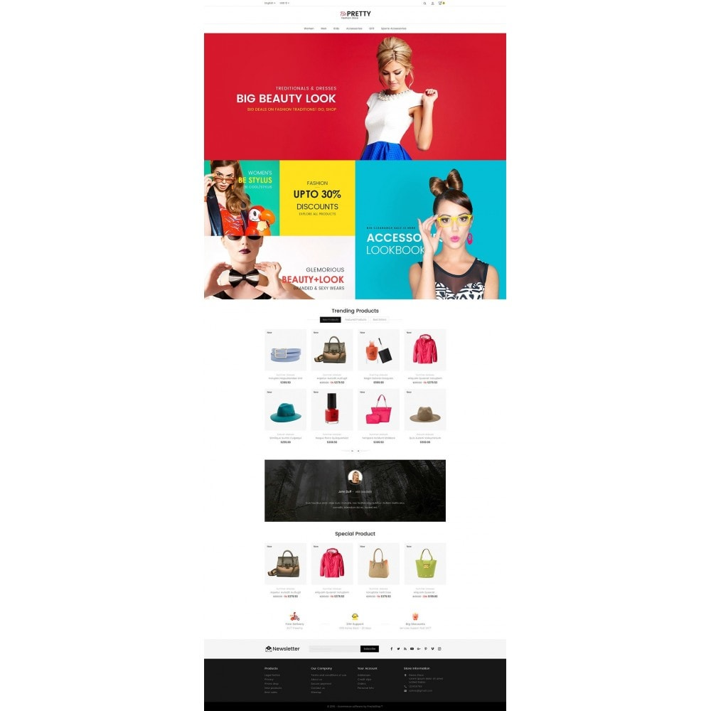 theme - Fashion & Shoes - BePretty Fashion Store - 2