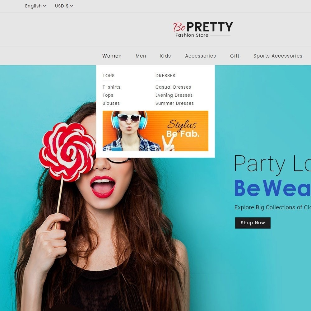 theme - Fashion & Shoes - BePretty Fashion Store - 10