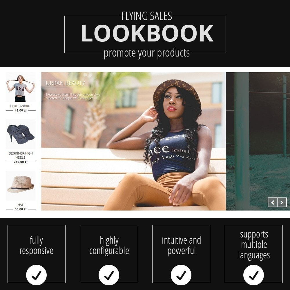 module - Слайдеров (карусельных) и галерей - Lookbooks for Products - beautiful gallery - 1