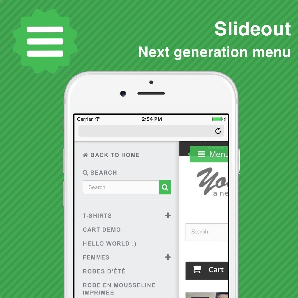 module - Menu - Slideout • Next generation menu - 1