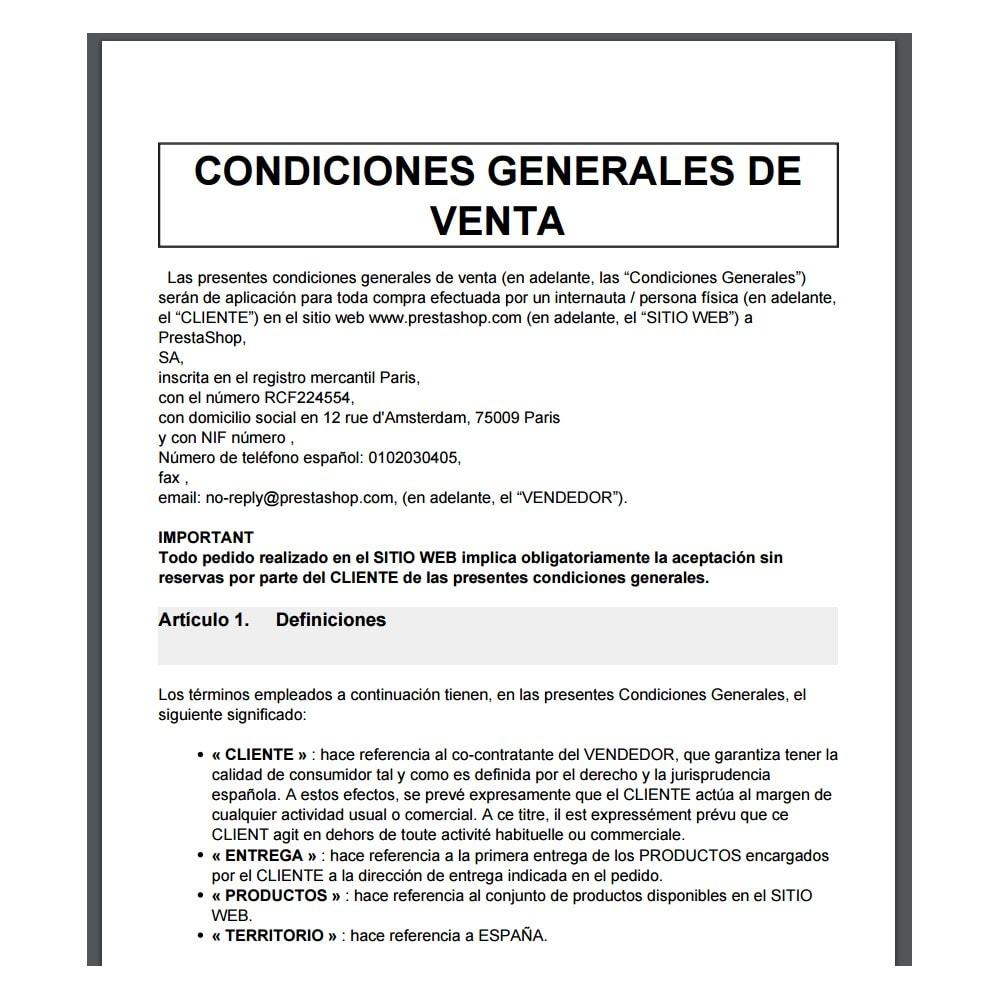 module - Администрация - Condiciones de venta para España - 3