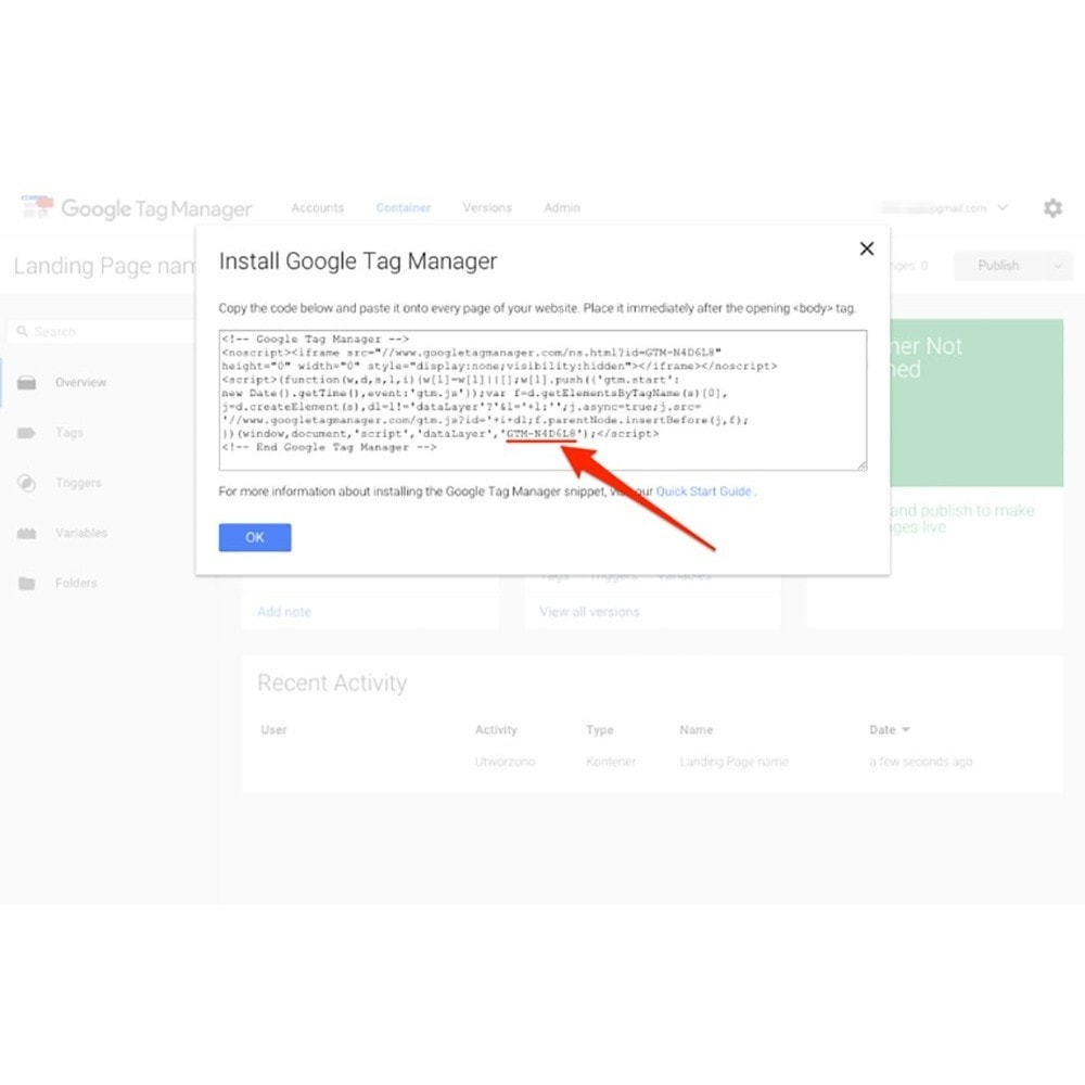 module - SEO - Integration Google Tag Manager - 5