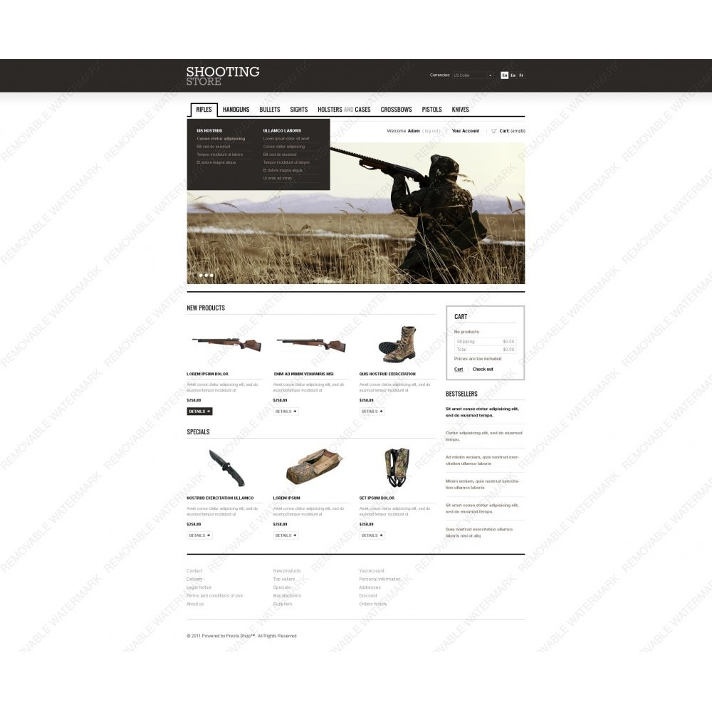 theme - Thèmes PrestaShop - Shooting Store - 3