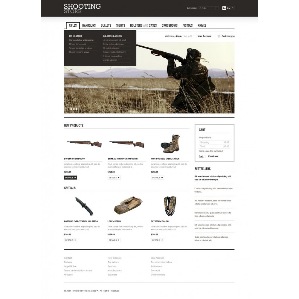 theme - Thèmes PrestaShop - Shooting Store - 4
