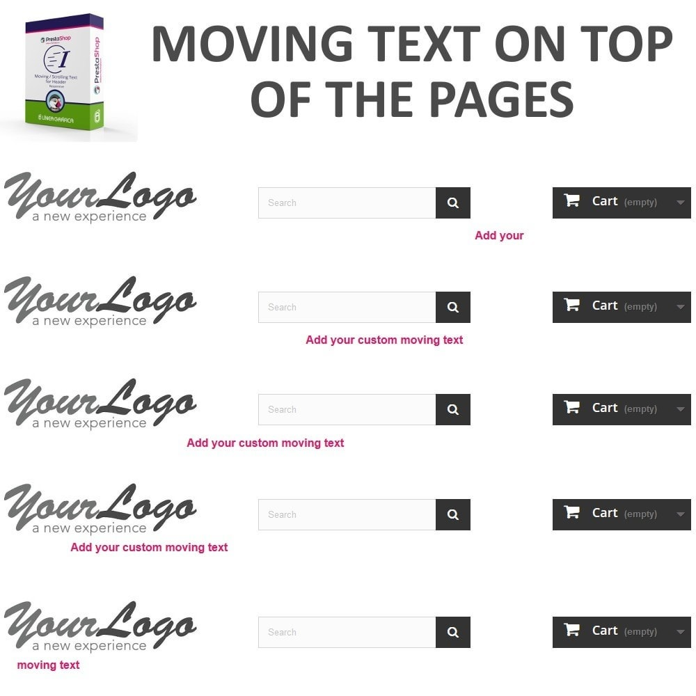 module - Blocos, Guias & Banners - Moving / Scrolling Text for Header - 2