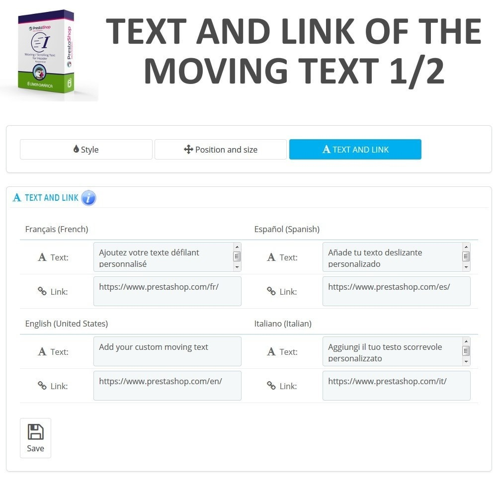 module - Blokken, Tabbladen & Banners - Moving / Scrolling Text for Header - 7