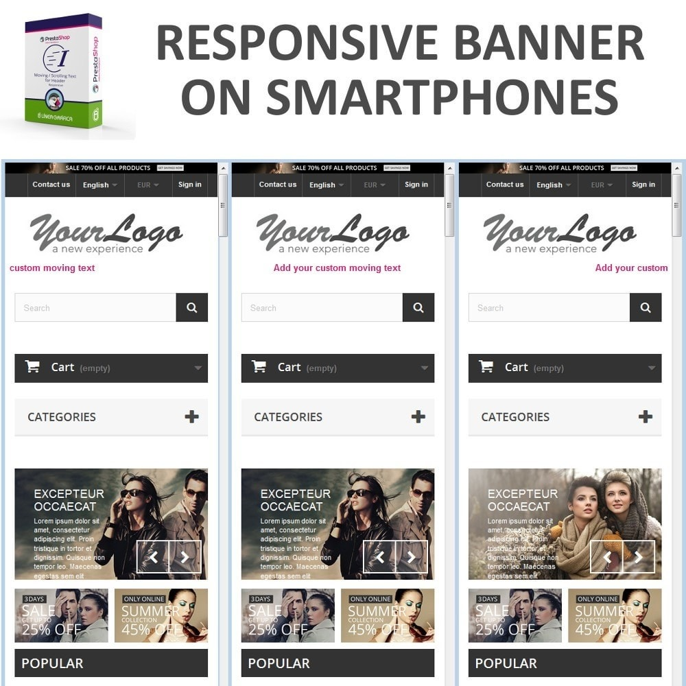module - Blocos, Guias & Banners - Moving / Scrolling Text for Header - 9