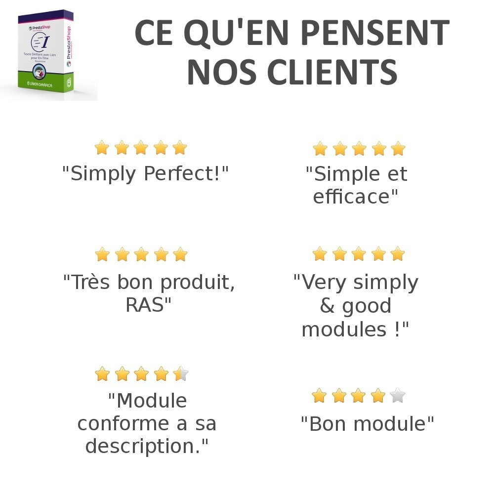 bundle - Avis clients - Confiance - Rassurez vos Clients - 3 Modules - 10