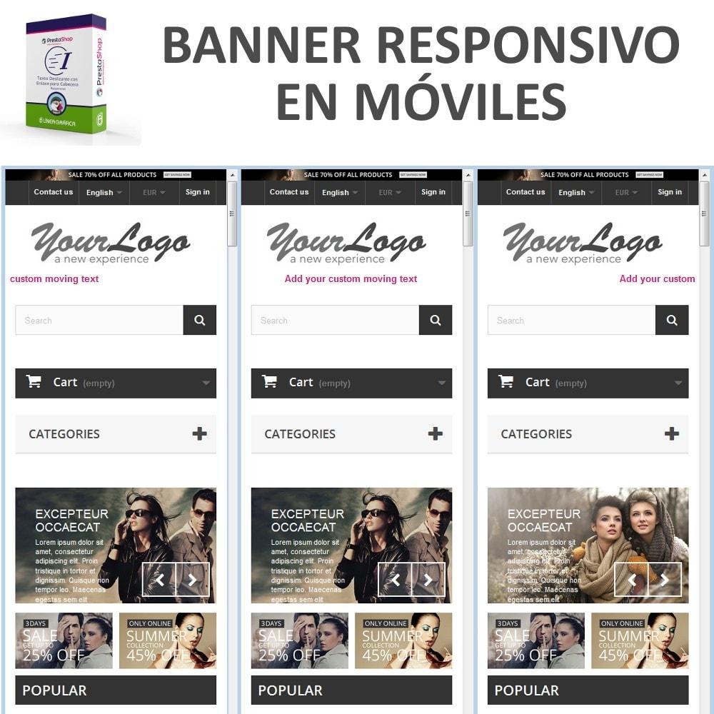 module - Bloques, Pestañas y Banners - Texto Deslizante con Enlace para Cabecera - 9