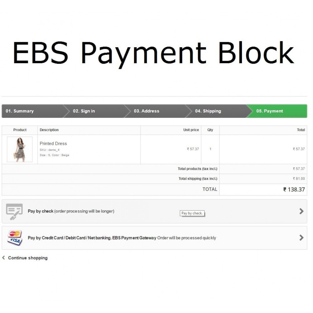module - Creditcardbetaling of Walletbetaling - EBS Payment Gateway India - 2