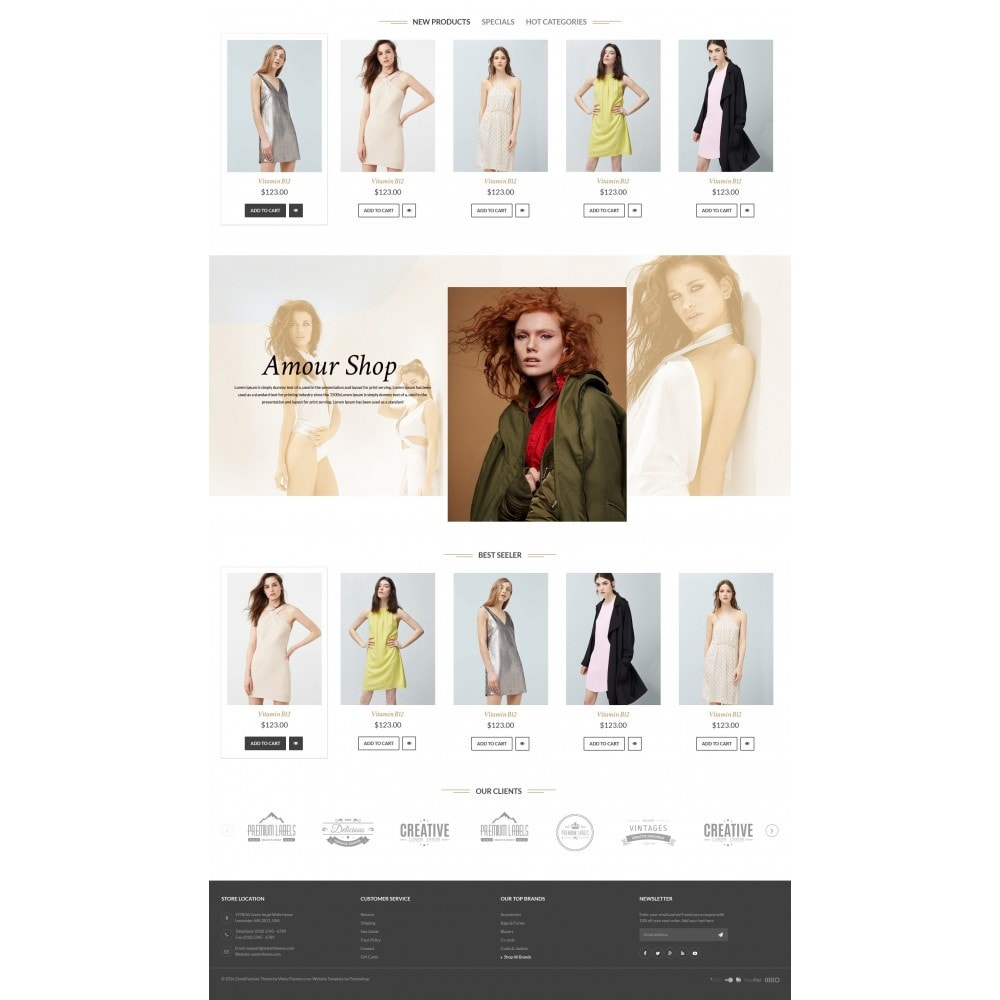 theme - Мода и обувь - Amour Fashion Store - 3