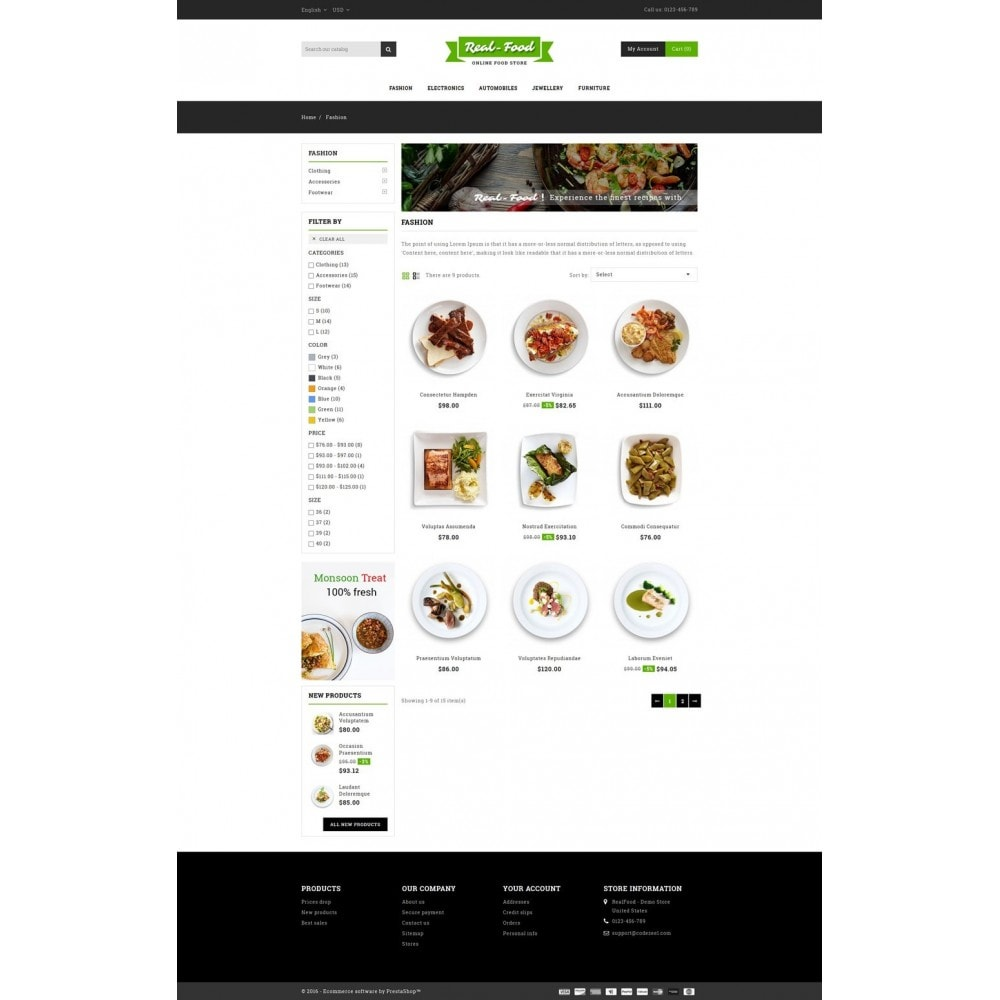 theme - Alimentation & Restauration - Best Real Food Store - 3