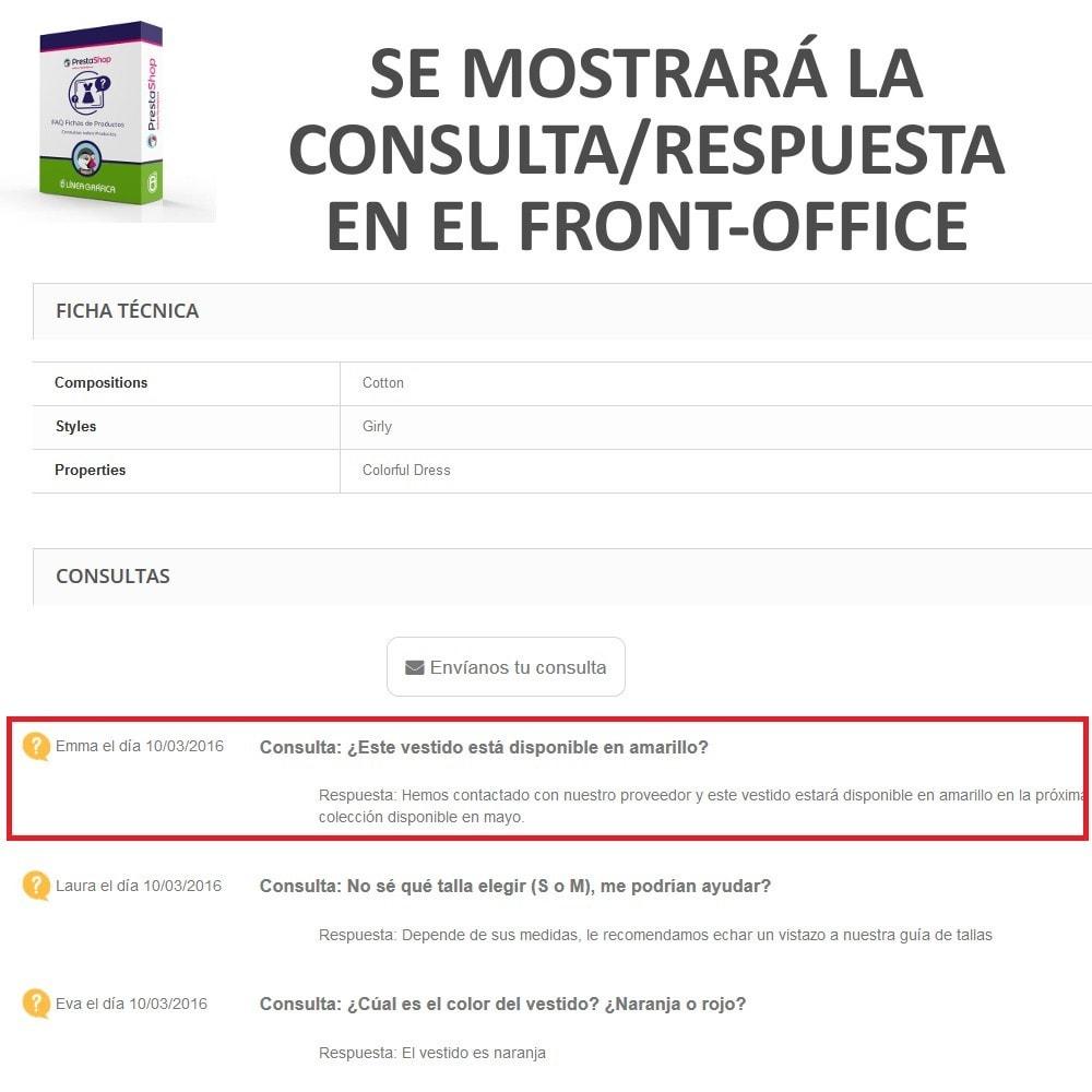 module - Preguntas Frecuentes - FAQ Fichas de Productos -  Preguntas frecuentes - 13