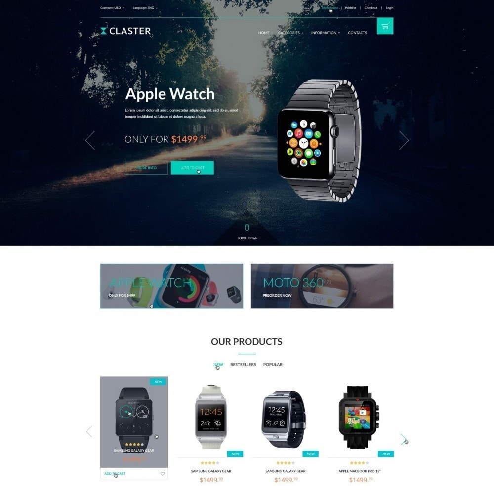 theme - Electronics & Computers - Claster - Smart Watches Shop - 1