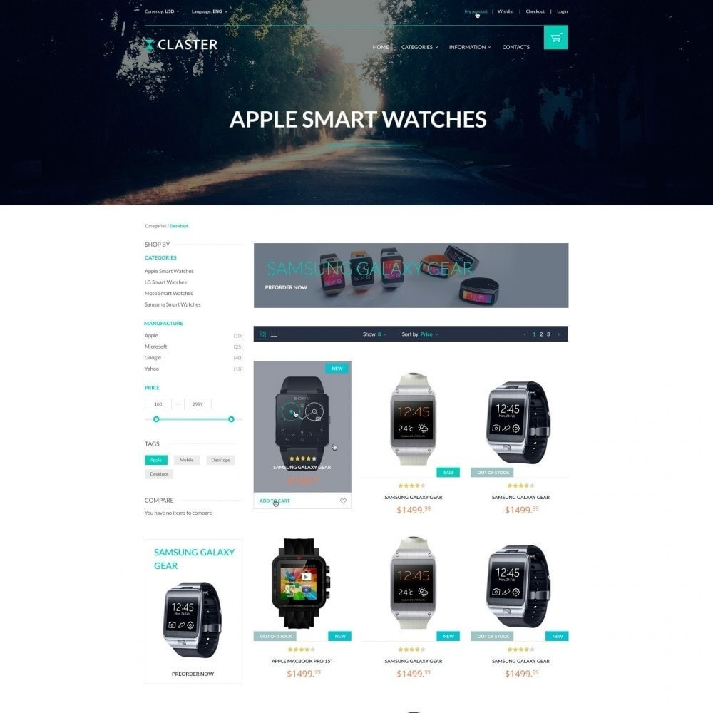 Claster - Smart Watches Shop