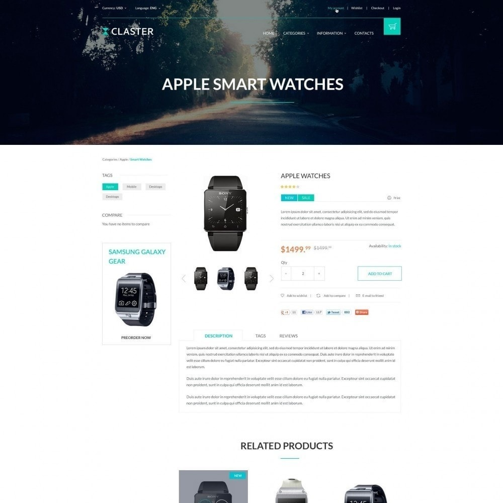 theme - Electronics & Computers - Claster - Smart Watches Shop - 3