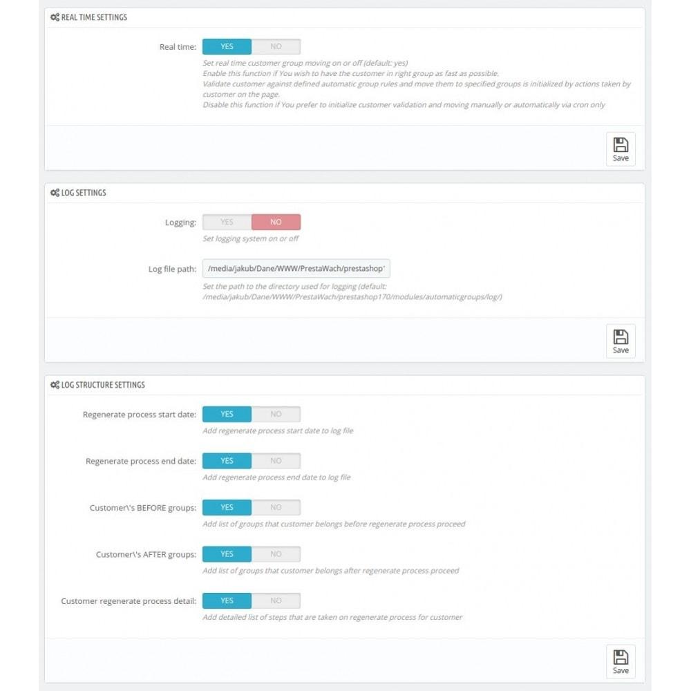 module - Zarządzanie klientami - AutomaticGroups - 1
