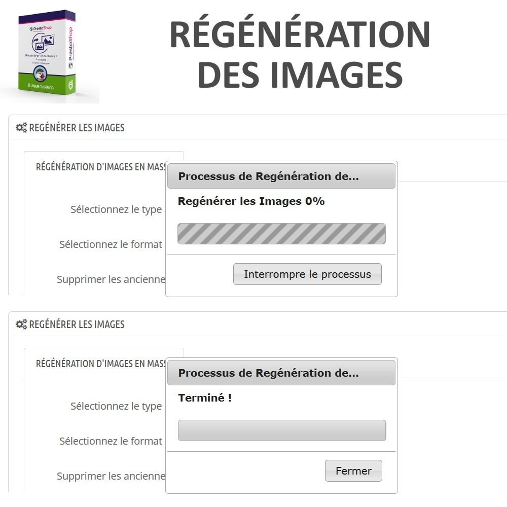 module - Edition rapide & Edition de masse - Régénérer Miniatures / Images pour Grands Catalogues - 4