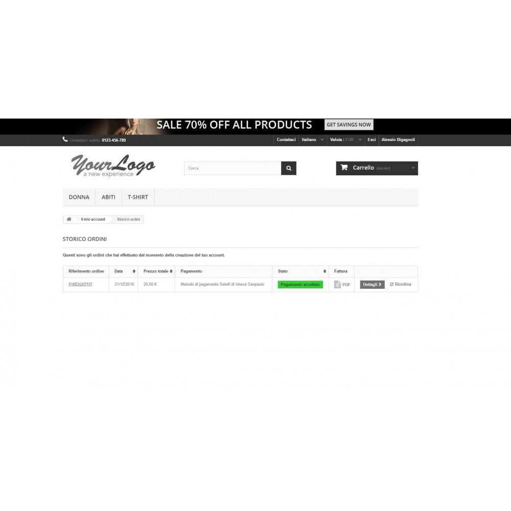 module - Pagamento con Carta di Credito o Wallet - POS Setefi di Intesa Sanpaolo Avanzato Monetaweb - 7