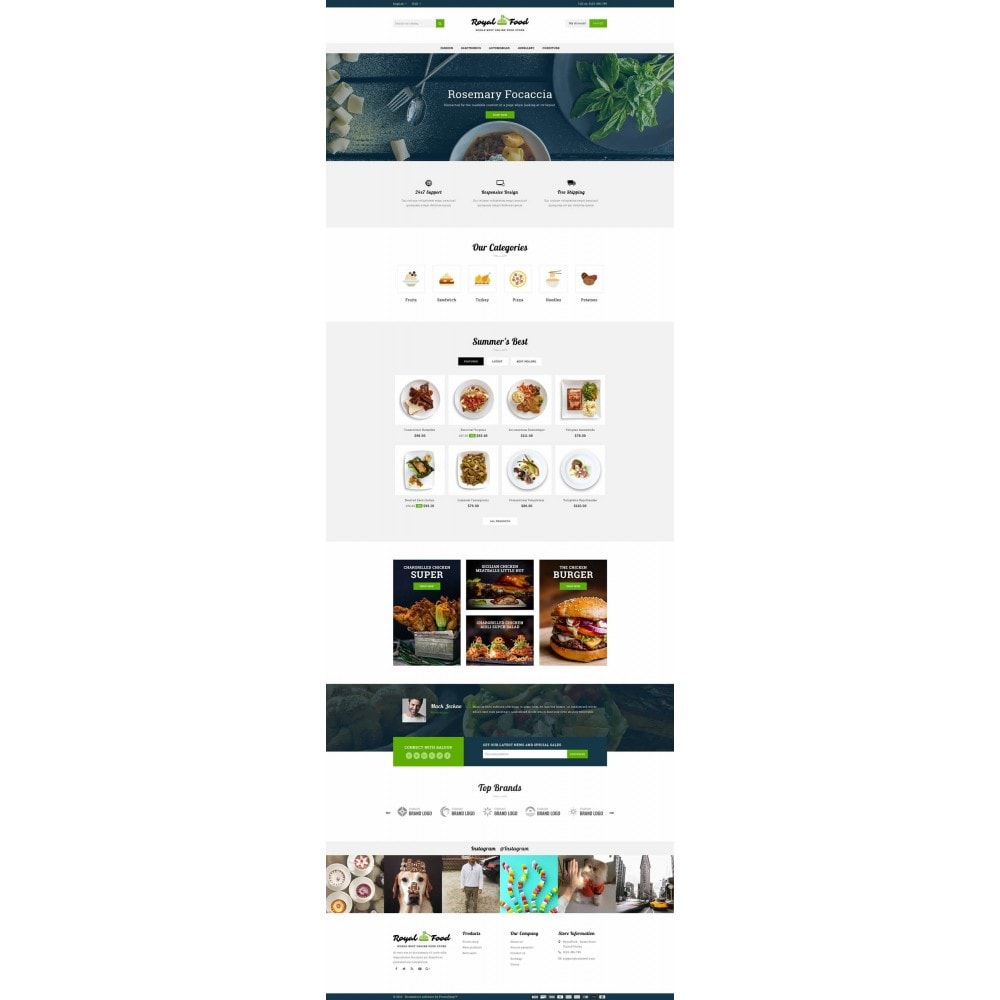 theme - Food & Restaurant - Food and Restaurant Store - 2