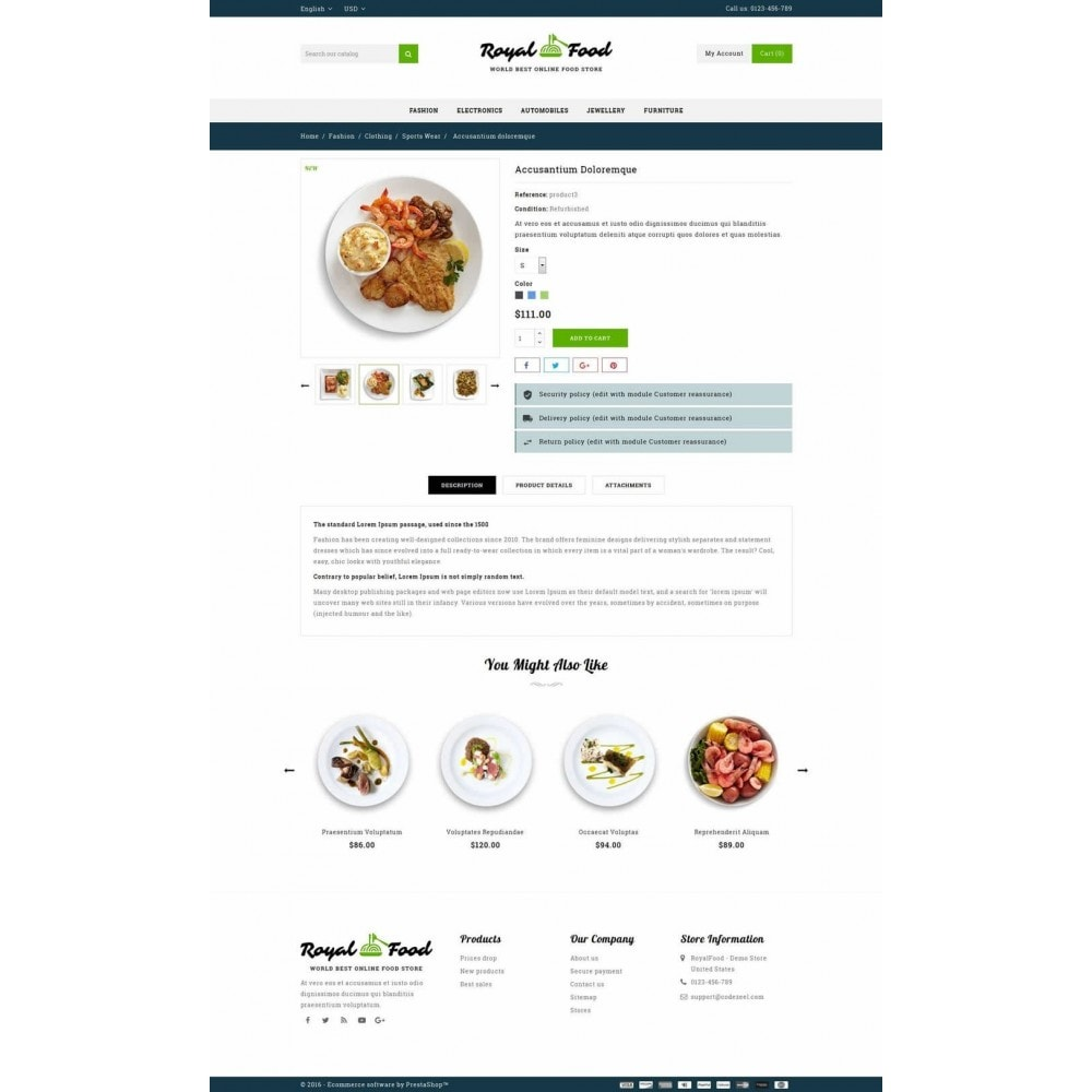 theme - Food & Restaurant - Food and Restaurant Store - 5