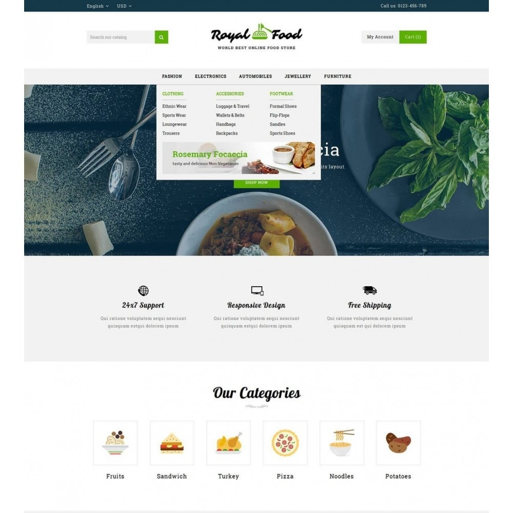 theme - Alimentos & Restaurantes - Food and Restaurant Store - 6