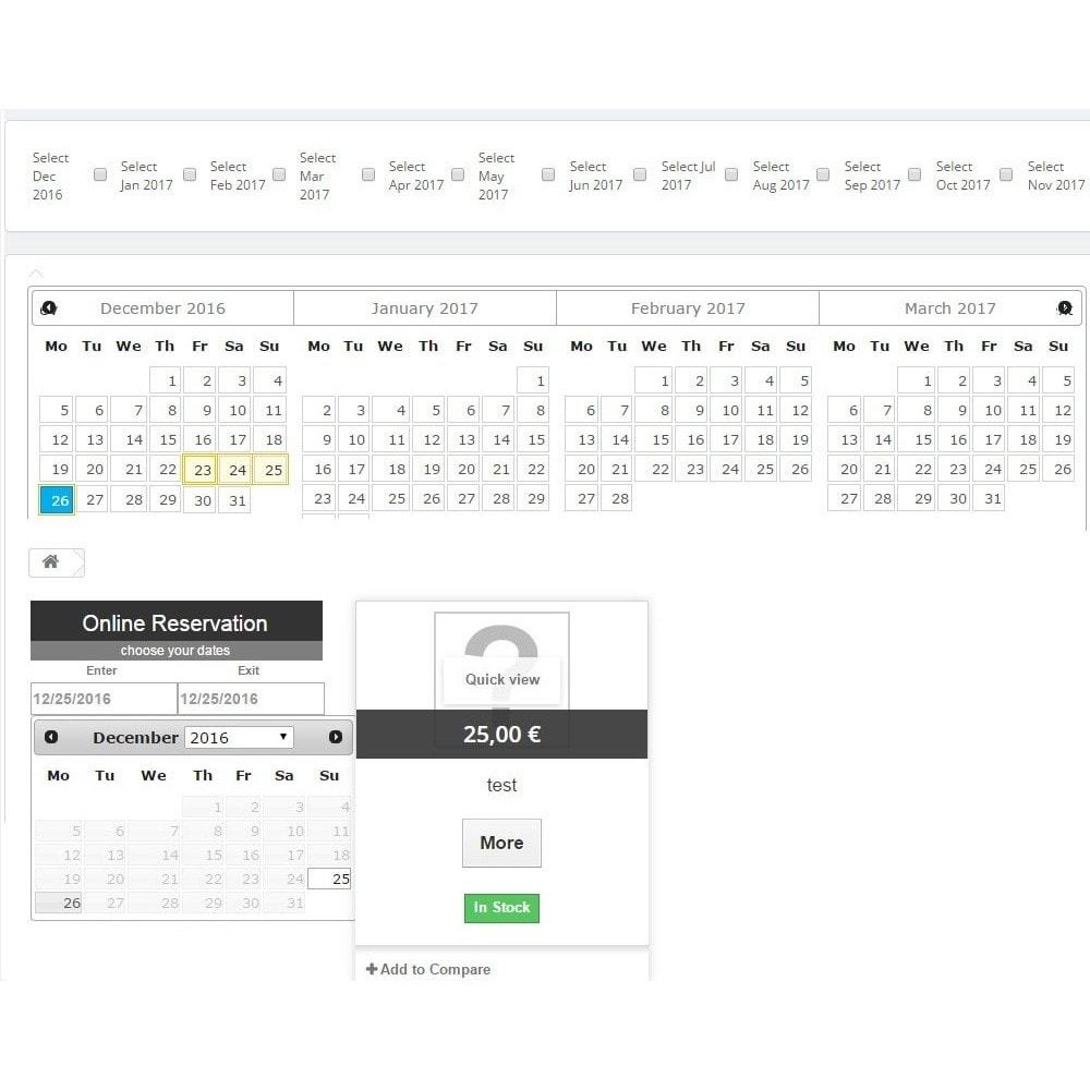 module - Reservation & Rental System - Booking Calendar - 2