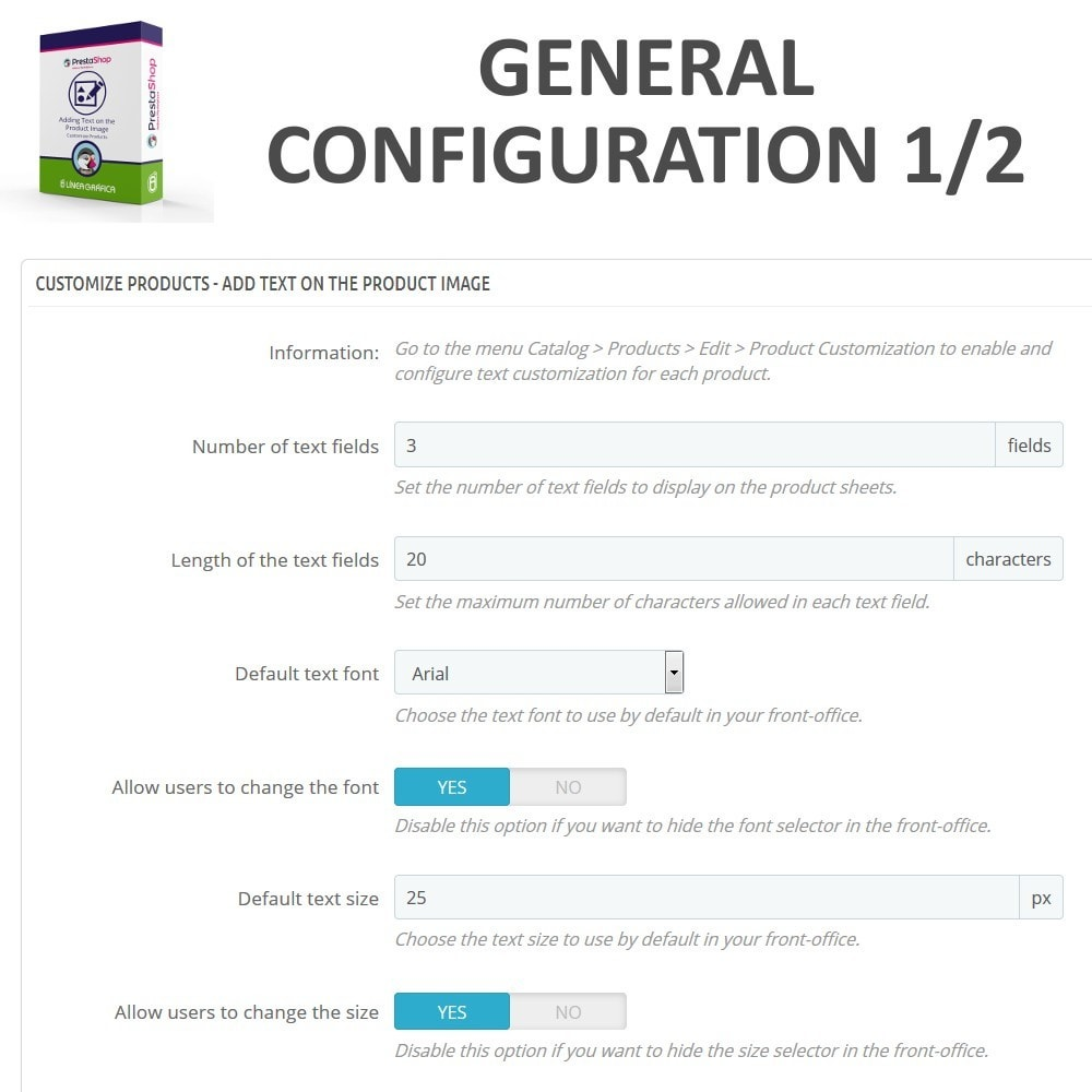 module - Combinations & Product Customization - Product Customization - Add Text over the Product Image - 4