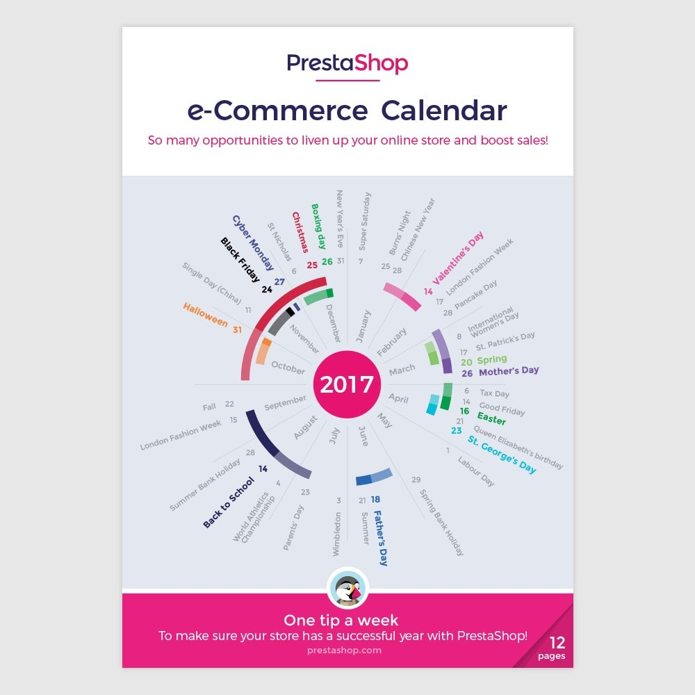 other - eCommerce Kalender - UK 2017 eCommerce Calendar - 1