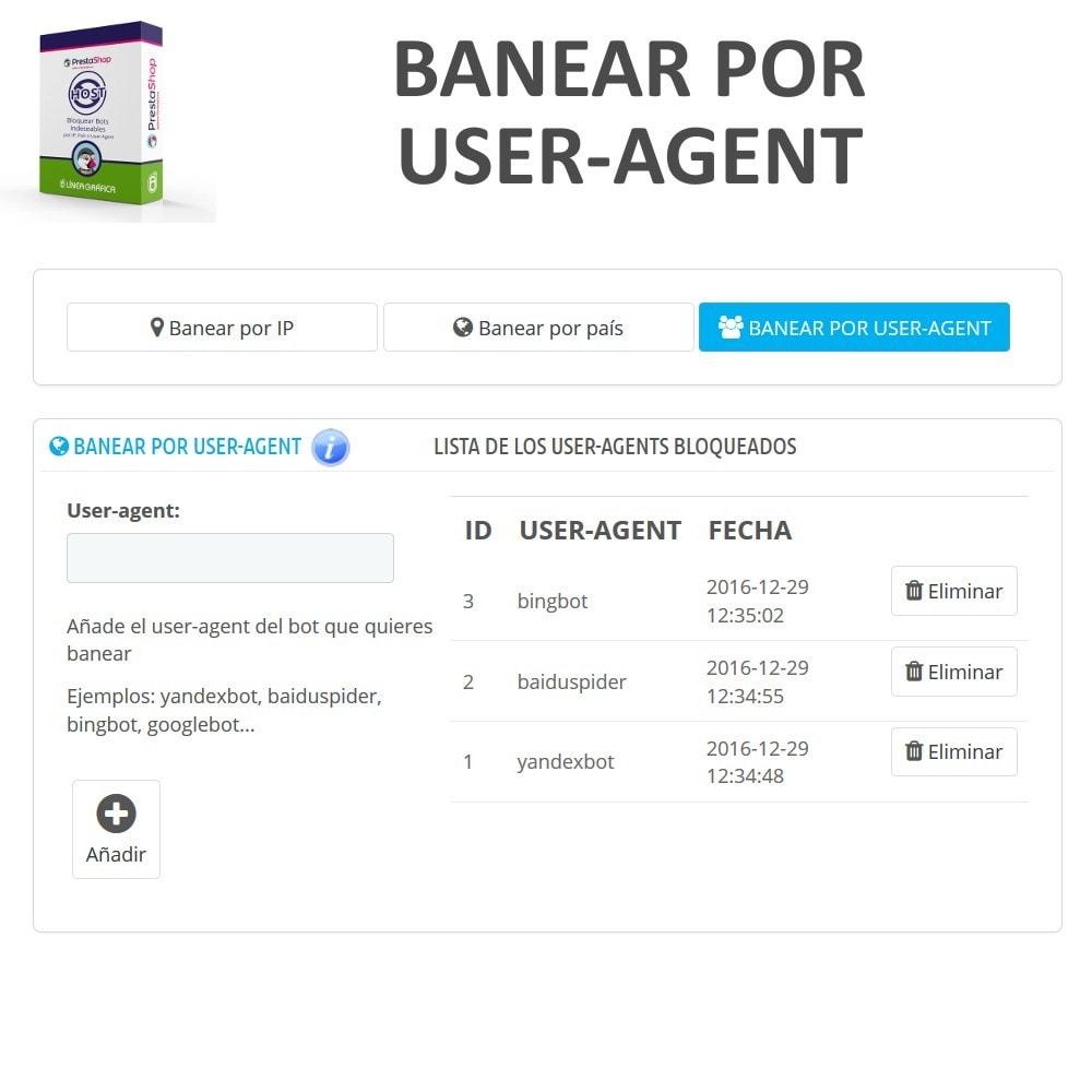 module - Seguridad y Accesos - Bloquear Bots / Usuarios por IP, País o User-Agent - 4