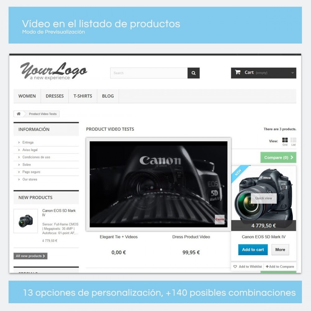 module - Vídeos y Música - Videos para Productos - Youtube, Vimeo... - 9