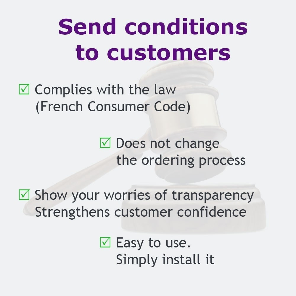 module - Legal - Send your GTC to your customers - 1