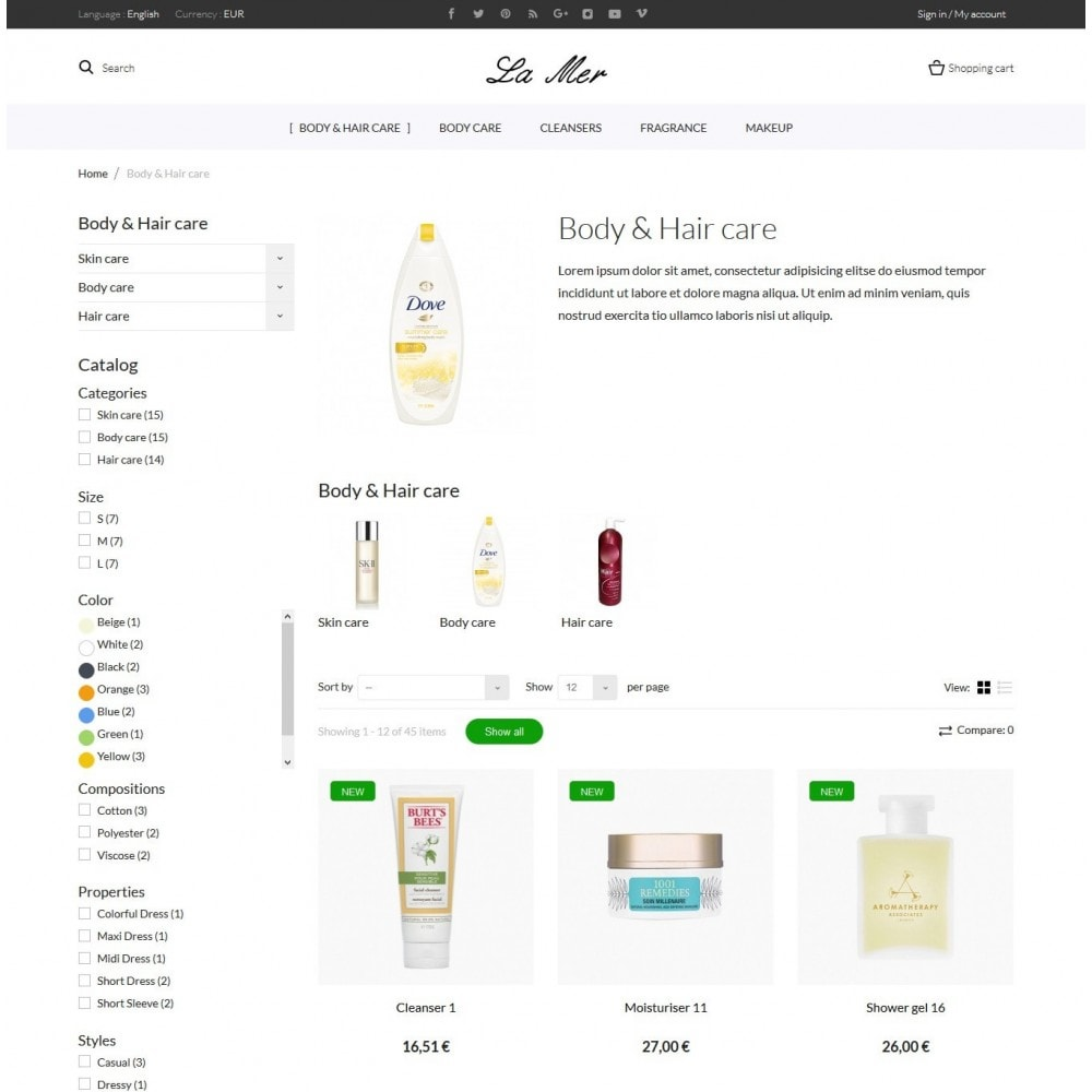 theme - Saúde & Beleza - La Mer Cosmetics - 5