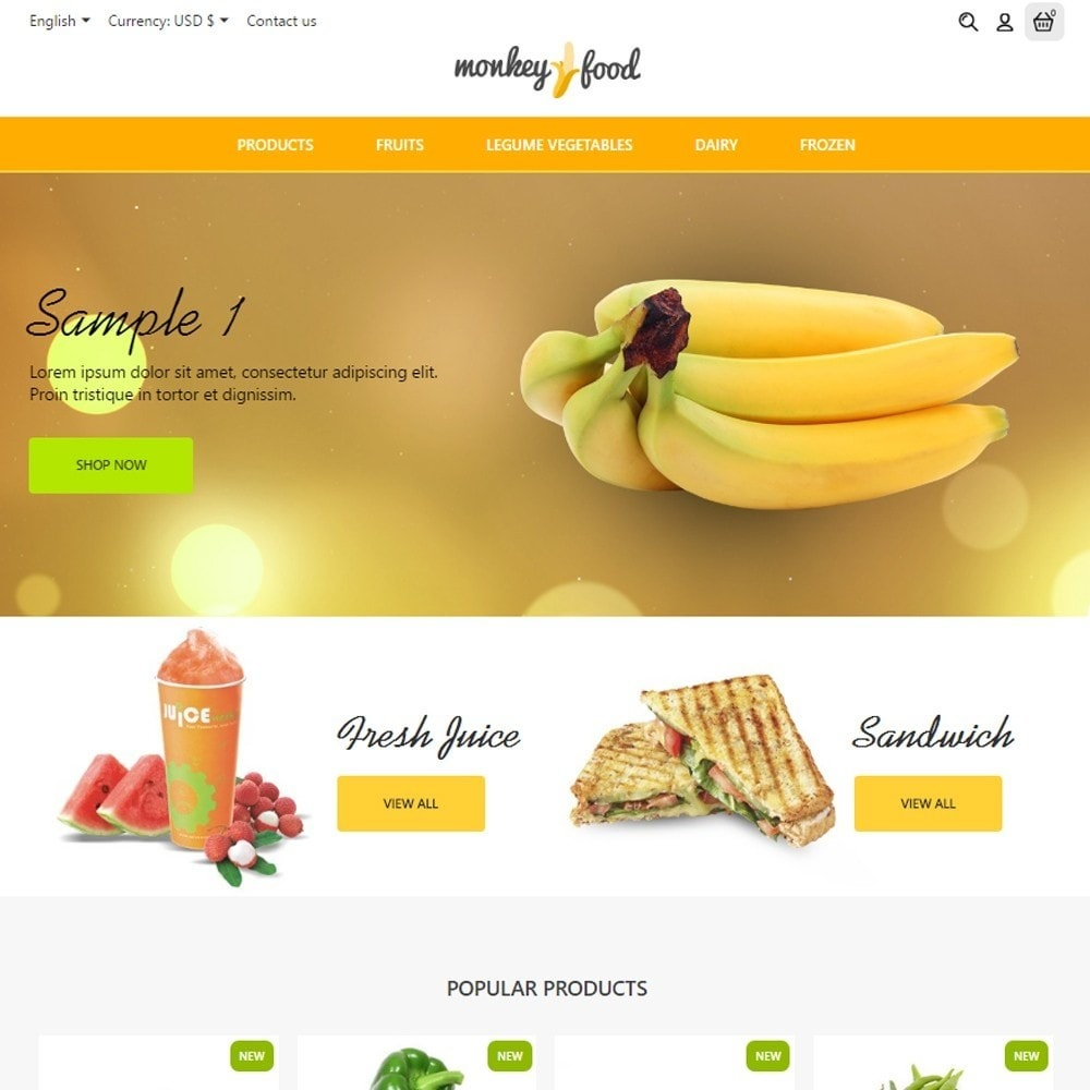theme - Alimentos & Restaurantes - Monkey Food Market - 2