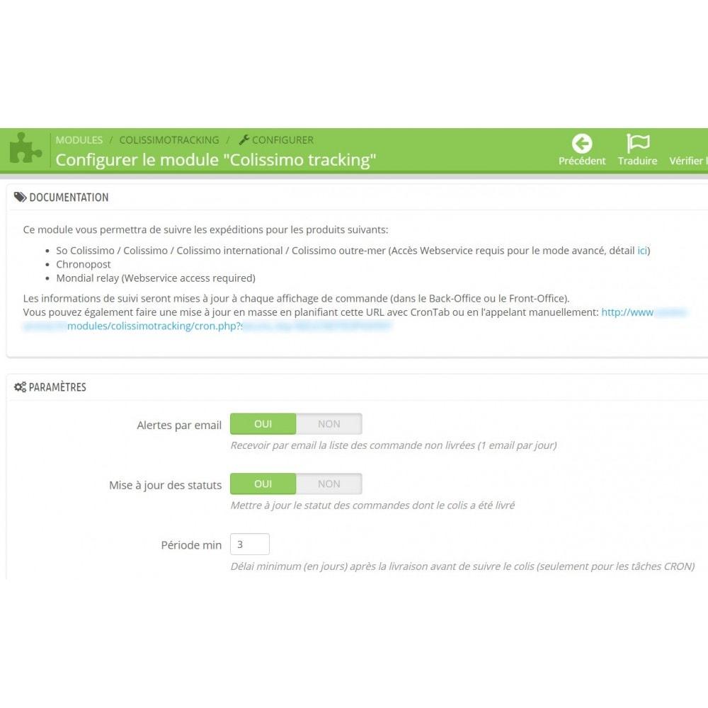 module - Rastreamento da entrega - Shipping tracking Colissimo / Chronopost / MondialRelay - 4