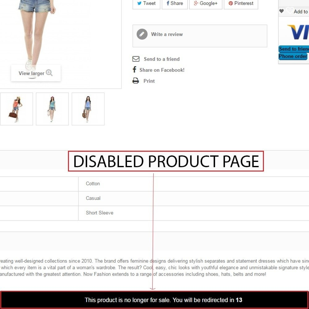 module - URL & Redirects - Out of Stock & Disabled product management - 5