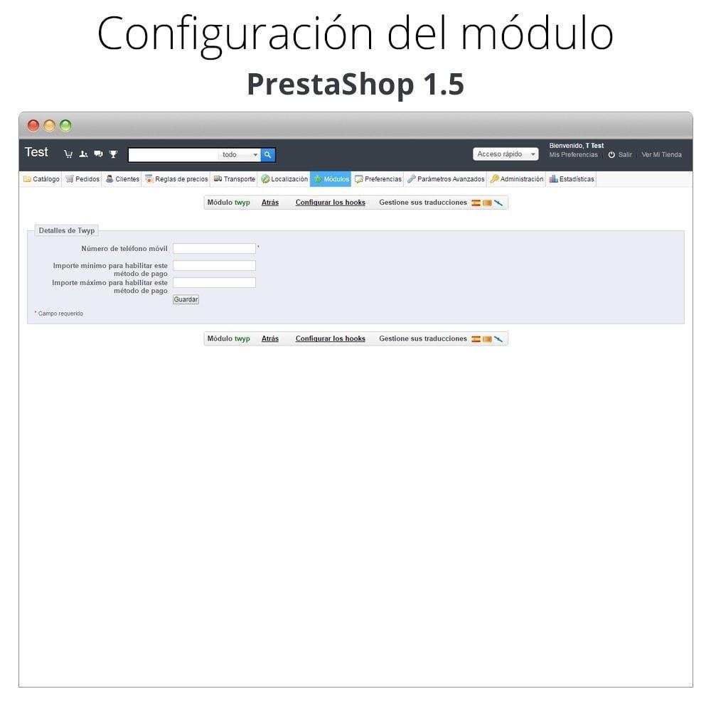 module - Otros métodos de pago - Twyp - Pago con el móvil - 12