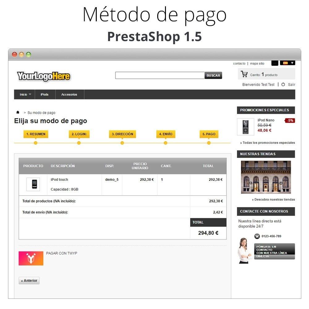 module - Otros métodos de pago - Twyp - Pago con el móvil - 13