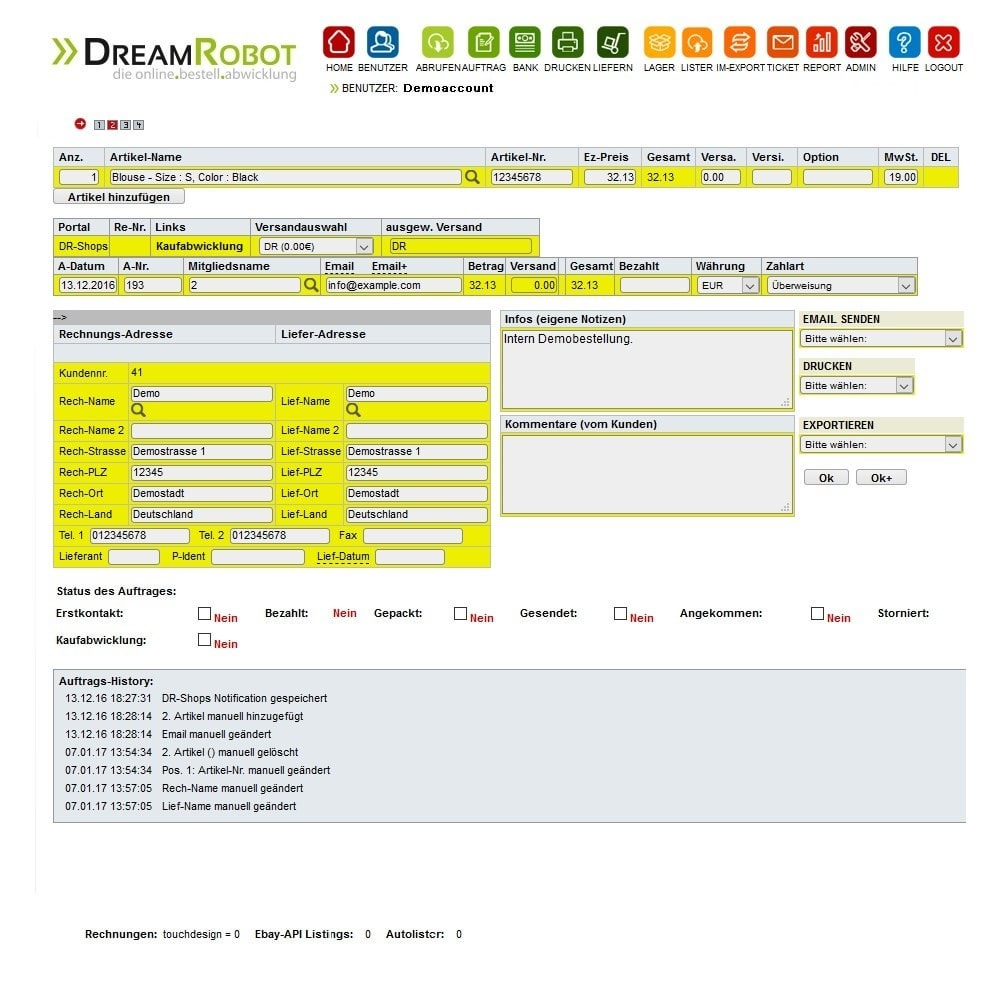 module - Datenabbindungen zu Drittsystemen (CRM, ERP, ...) - dreamrobot - 1