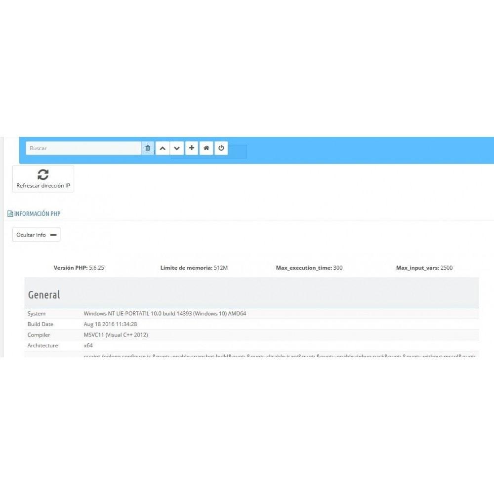 module - Seguridad y Accesos - Selector modo Debug - Basado en direcciones IP - 5