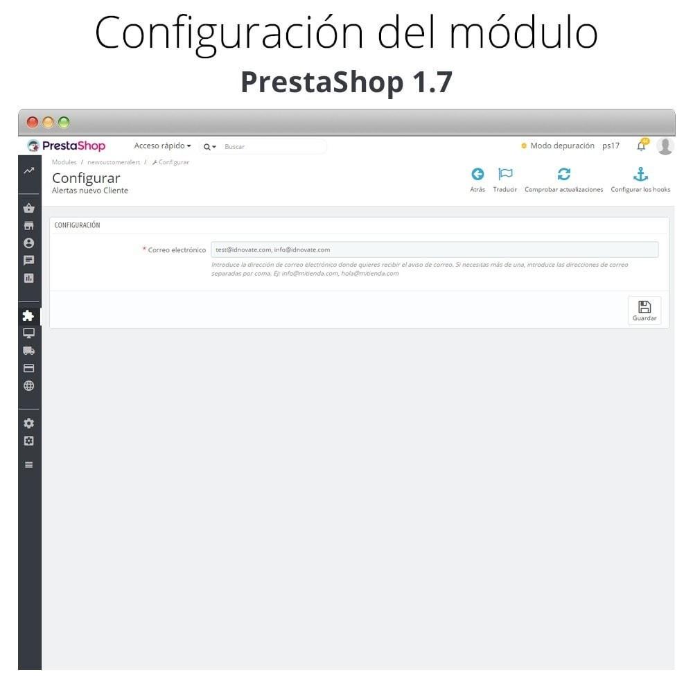 module - E-mails y Notificaciones - Aviso de correo con nuevos clientes - 2