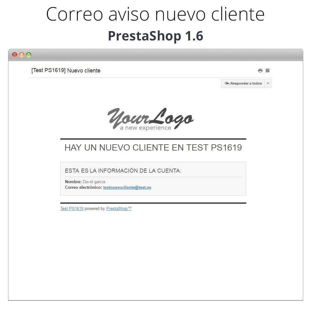 module - E-mails y Notificaciones - Aviso de correo con nuevos clientes - 5