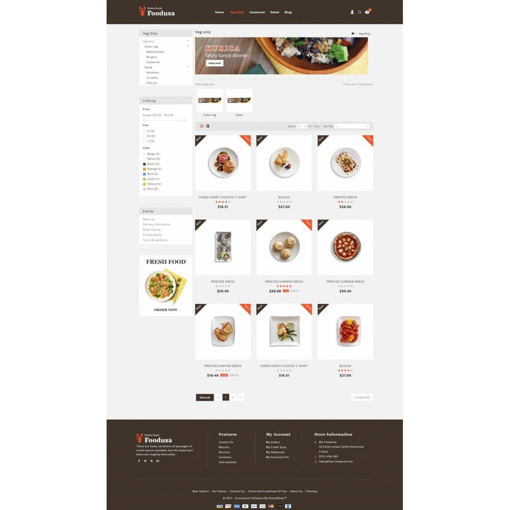 theme - Food & Restaurant - Foodusa Store - 3