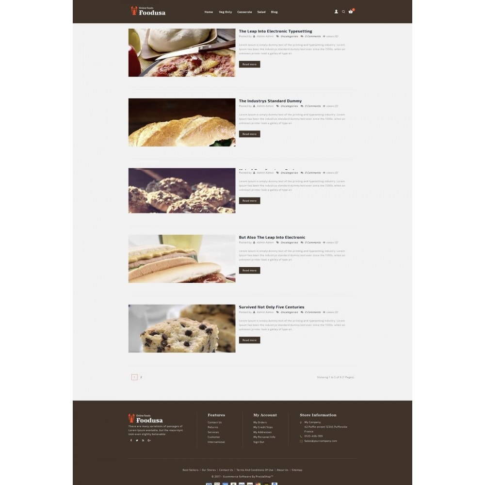 theme - Food & Restaurant - Foodusa Store - 6