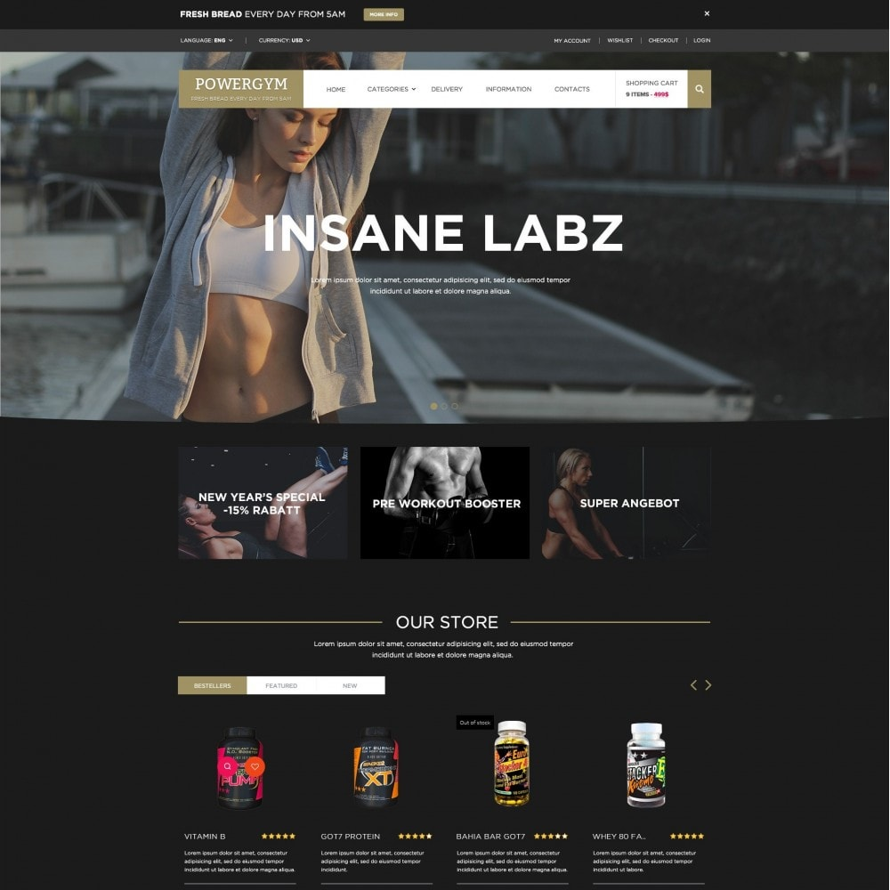 theme - Health & Beauty - Powergym - Sports Nutrition Store - 1