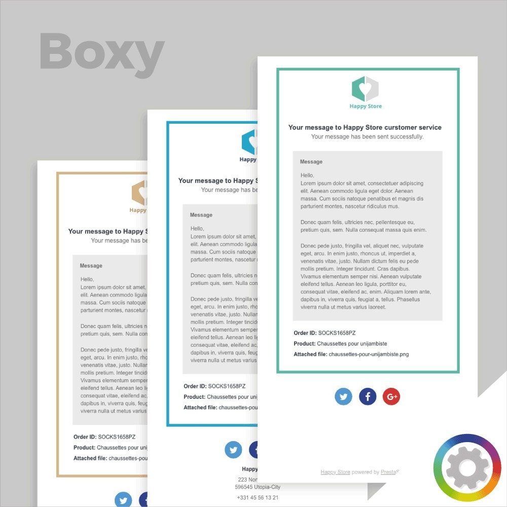 Boxy - Email template