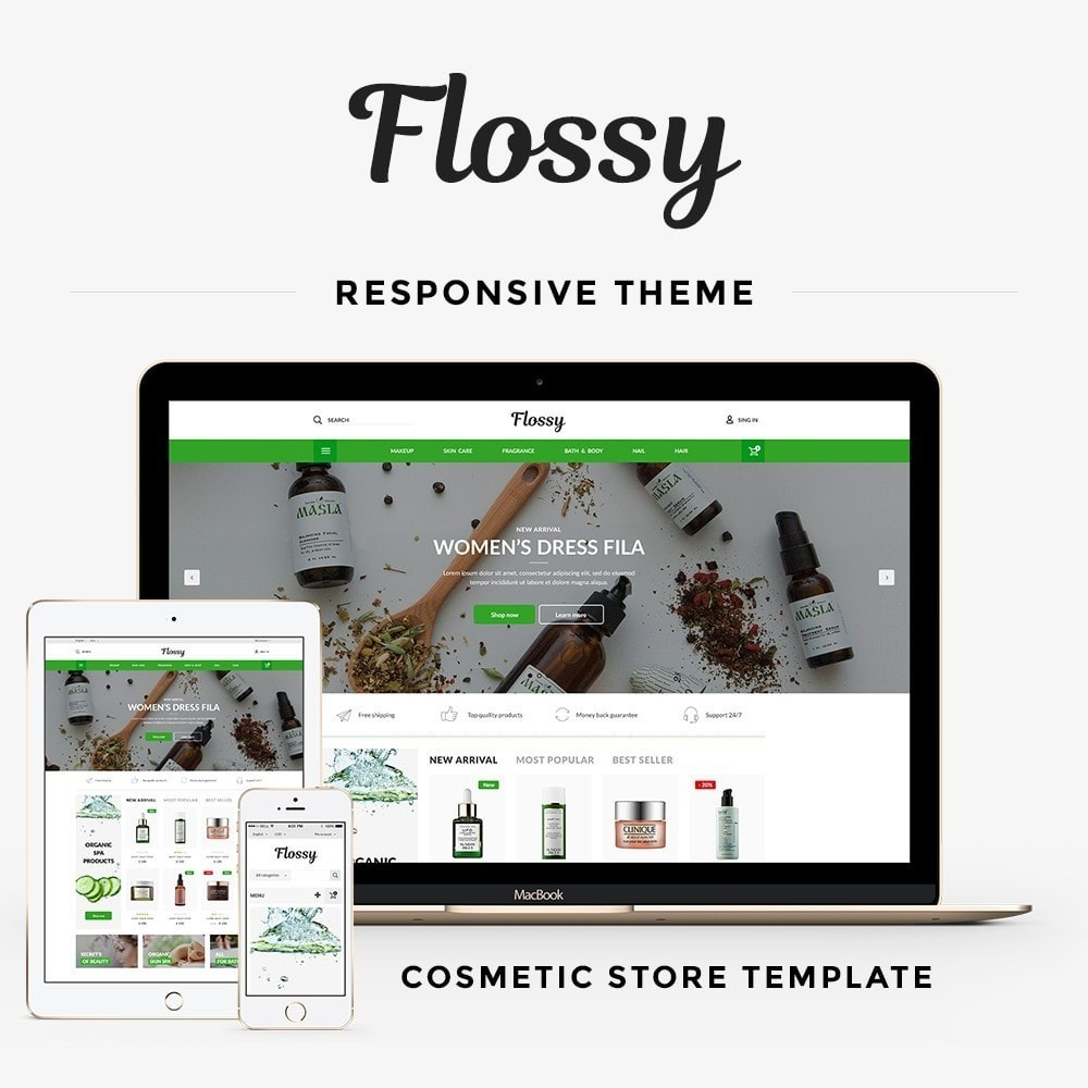 theme - Health & Beauty - Flossy Cosmetics - 1